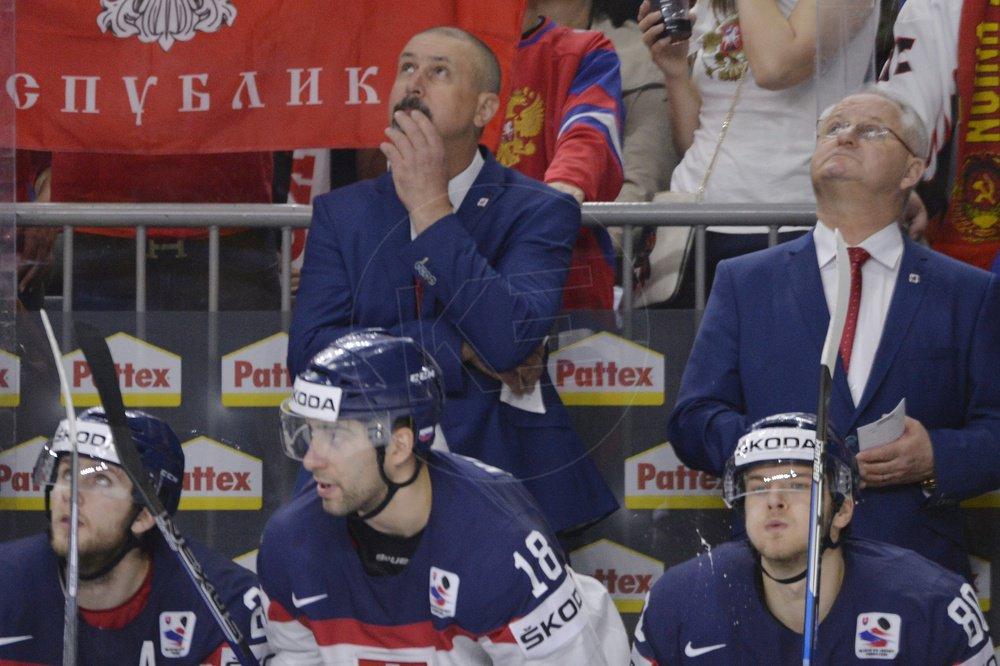8c08423a69a31 Na snímke tréner Zdeno Cíger (vľavo) a asistent trénera Július Šupler ( vpravo) / TASR
